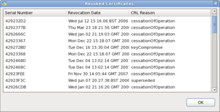 Screenshot-Revoked Certificates